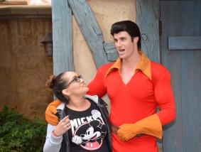 He's very tall, haha.